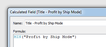 Customizing a Title with a Calculation
