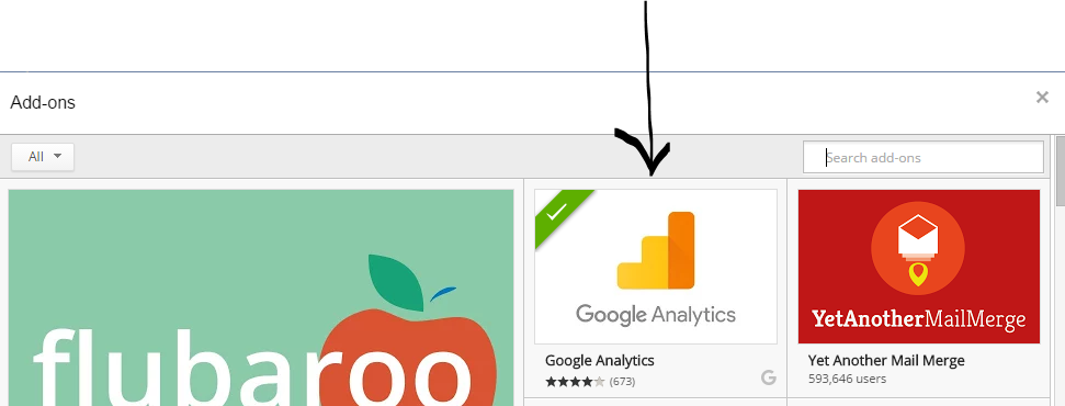 Google Analytics addon for Google Sheets