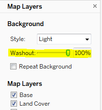 Map Layers Washout