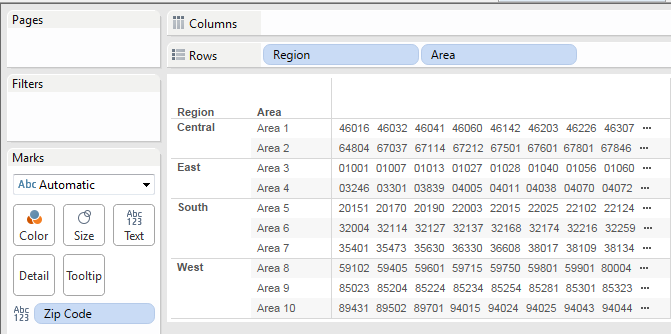 Tableau Is Nice Enough To Supply The Fields Laude Generated And Longitude Generated Based On The Zip Code